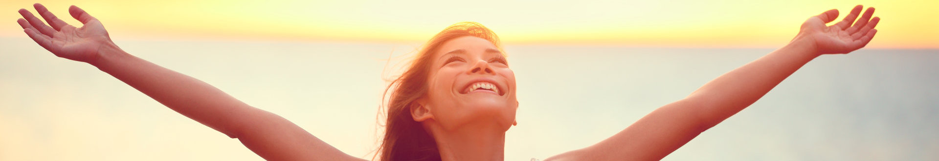 woman smiling with nice scenery