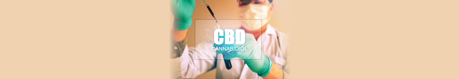 Cannabis oil, CBD concept, Chemist conducts experiments by synthesising compounds.