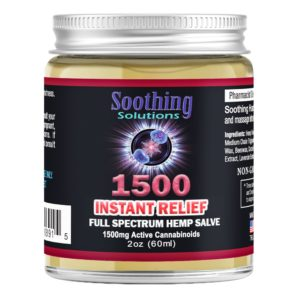 Soothing Solutions Instant Release Hemp Salve 1500 2oz